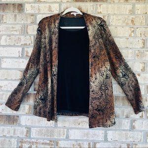 JM Collection printed blouse size M